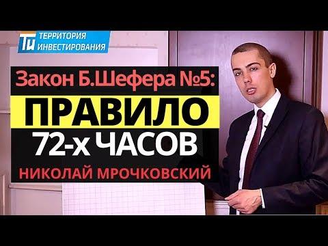 Правило 72 часов: Закон успеха — Закон финансового успеха №5 Бодо Шефера от Николая Мрочковского