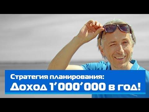 Стратегия планирования: Доход 1'000'000 в год!